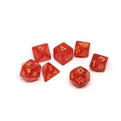 Set de Dados Rojo Marmoleado