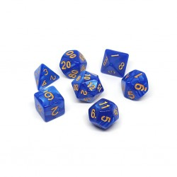 Set de Dados Azul Marmoleado