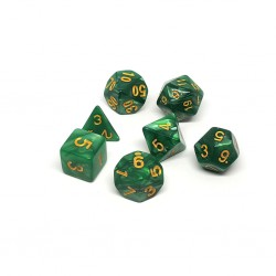Set de Dados Verde Marmoleado